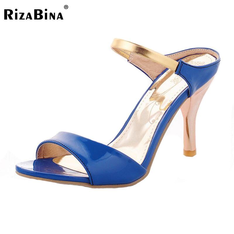 Yeni Kadın Yüksek Topuk Sandalet Gladyatör Moda Lady Seksi Plaj Terlik Topuklar Yaz Ayakkabı Kadın Ayakkabı Boyutu Için 32-43 PA00835