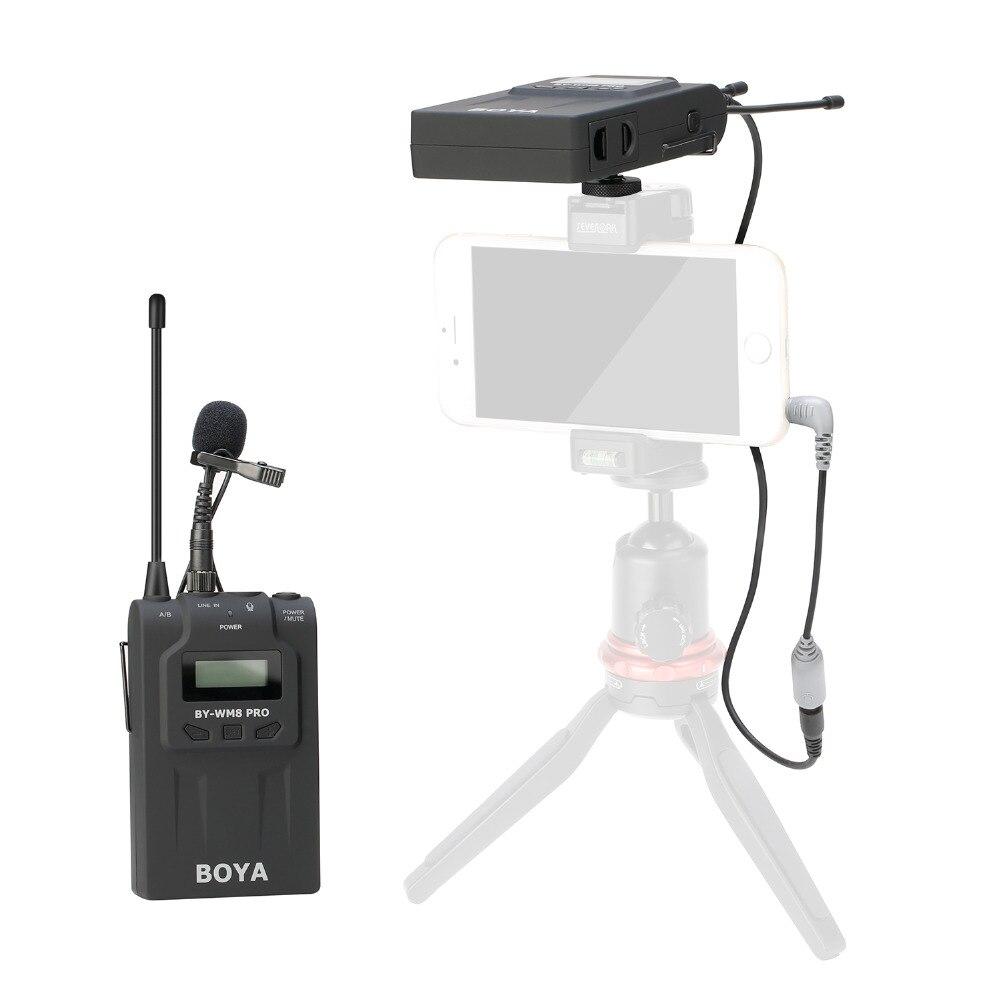 BOYA BY-WM8 Pro UHF сымсыз лавальді микрофон - Портативті аудио және бейне - фото 4