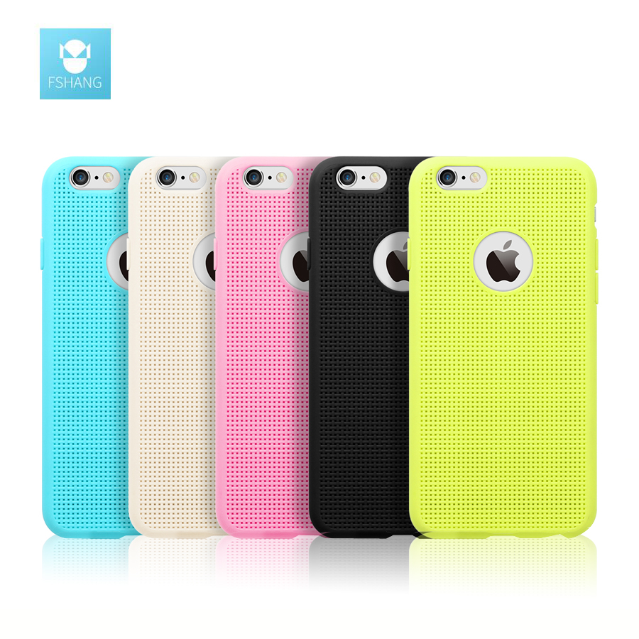 new plaid breathable coque for iphone 6 case fshang imported silicone tpu ultra thin cover for