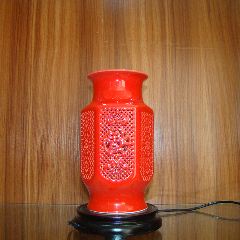 Vase lamp ingdezhen chinese porcelain ceramic table lamp - Porcelain table lamps for living room ...
