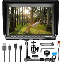 Neewer NW759 7 Inches HD Monitor Magic Arm With 15mm Rod Clamp 1280x800 IPS Screen Camera
