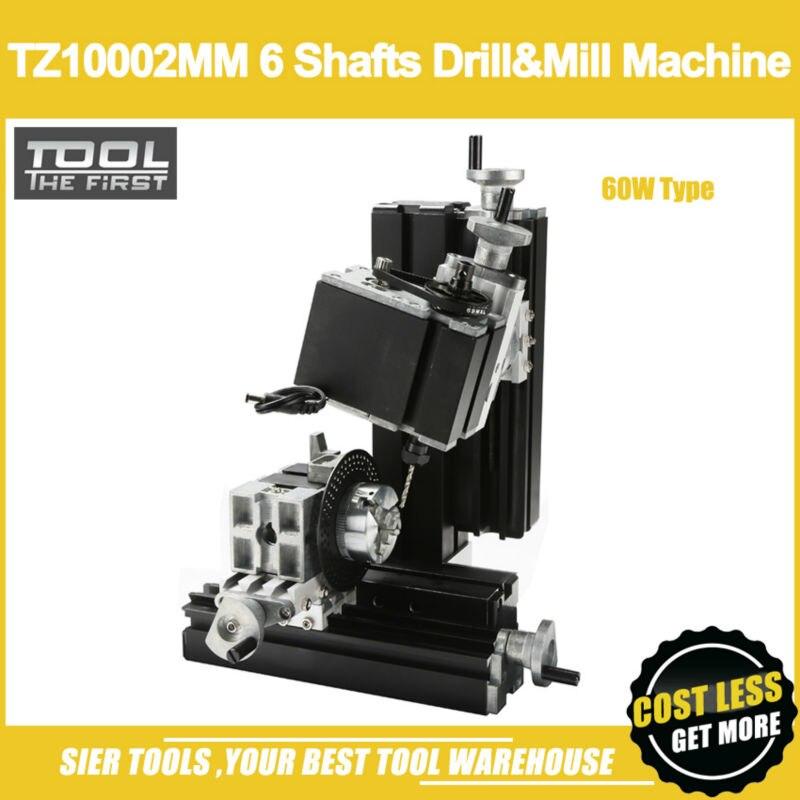 TZ10002MM 60W Metal 6 Shafts Drilling Milling Machine 60W 12000rpm Powerful Mini Multifunction lathe