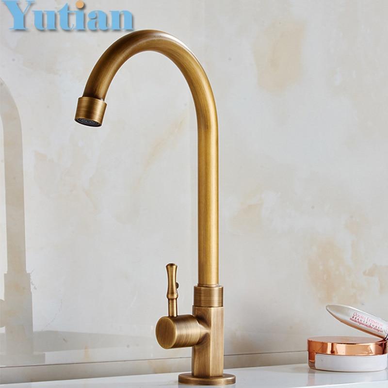 spedizione gratuita freddo singolo rubinetto antico finitura ottone rubinetti da bagno rubinetto bacino rubinetti torneiras rubinetto