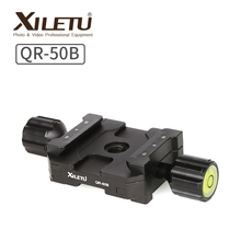 XILETU QR-50B Aluminum Alloy Tripod Head Clamp Two Way Type Quick Release Plate Clamp for ARCA SWISS xiletu ls 4 handgrip video photography fluid drag hydraulic tripod head and quick release plate for arca swiss manfrotto