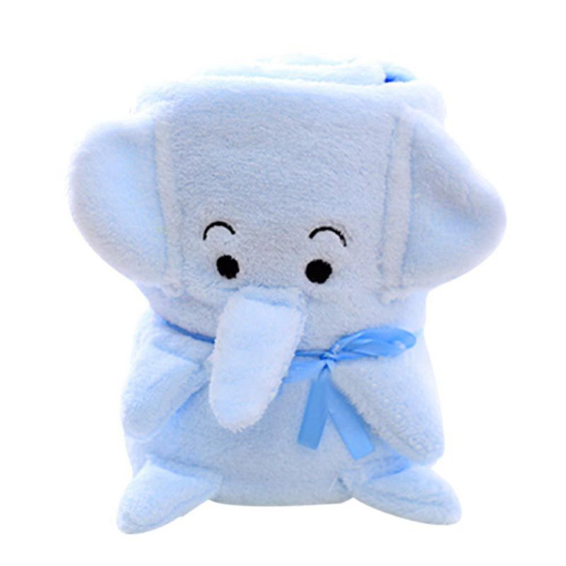 New Cute Catoon Animal Blanket Coral Fleece Blanket Throws on Sofa/Bed/Plane Travel Plaids Manta Fleece Blanket 100cmx80cm