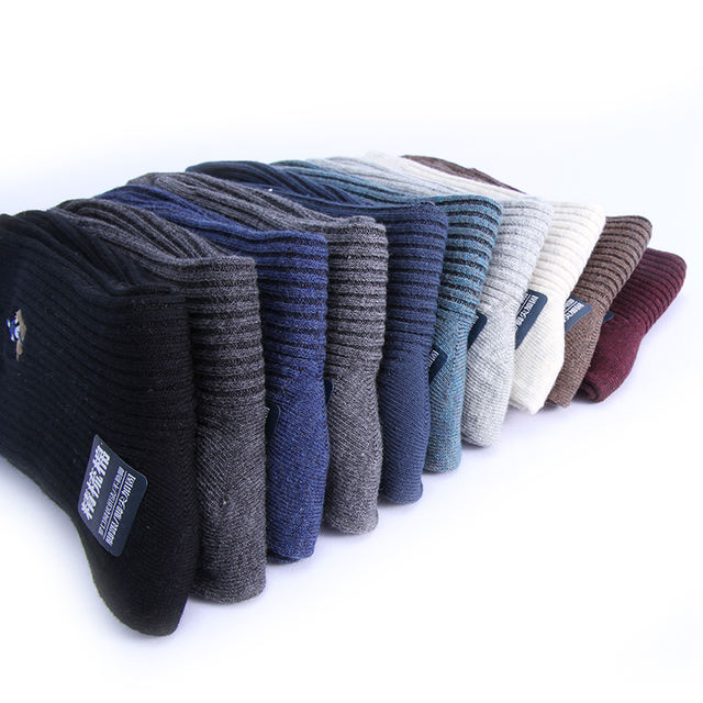 PIER POLO's new fall casual fashion men's solid color Cotton socks breathe warm Cotton socks 10 pairs of best gift socks for men