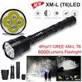 Высокое Качество 4X XML T6 LED 6000LM Расширенный Тактический Фонарик Водонепроницаемый LED Torch