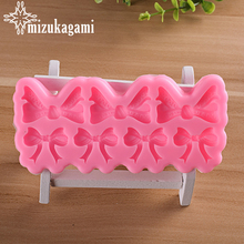 1pcs UV Resin Jewelry Liquid Silicone Mold Bowknot Resin Molds For DIY Cake Chocolates Bake Tool Making Jewelry Accessory