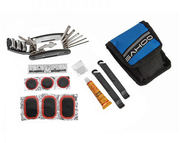 Mini Cycling Bike Bicycle Tyre Repair Kit Tool Bag Set with Multi-function Tool