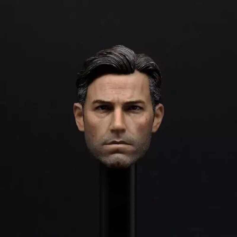 1/6 Scale Ben Affleck Head Sculpt Model For 12'' Male Body Action Figures Hobbies Collections