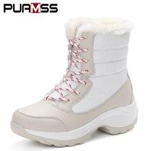 Women Boots 2018 New Winter Women Snow Boots Warm Women Booties Fashion Women s  Shoes Bot Ankle 014337bd5122