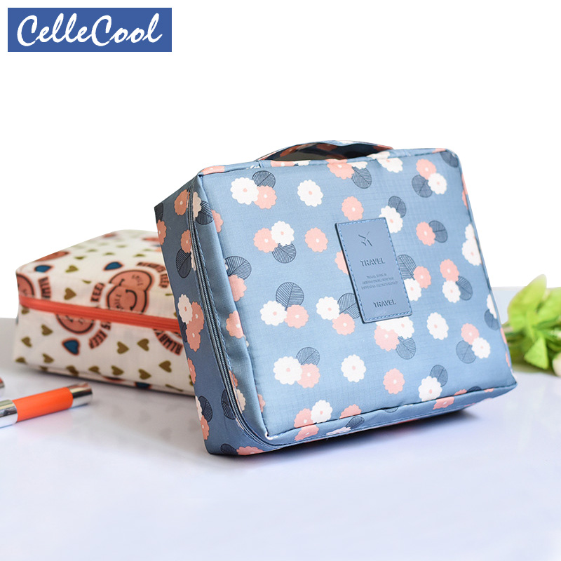 CelleCool 2018 Multifunction travel Cosmetic Bag Women Toiletries Organizer Makeup Bags Waterproof Female Storage Make up Cases(China)