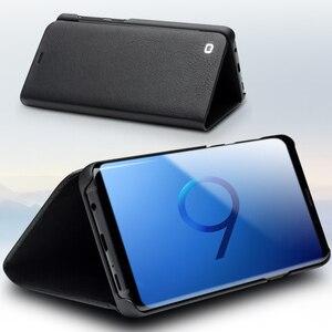 Image 2 - Qialino本革フリップケース三星銀河s9ファッション高級極薄ステント電話カバー三星s9 +プラス6.2インチ