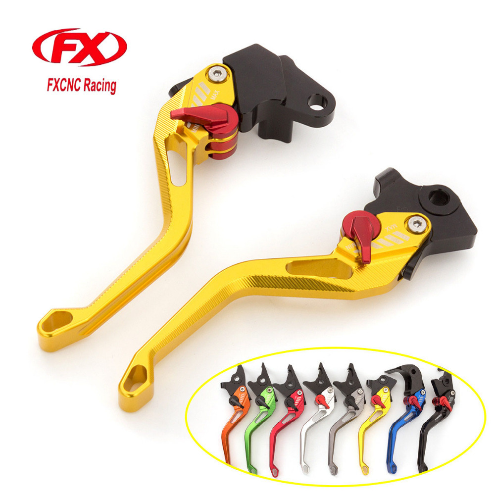 FXCNC 3D Texture Aluminum Short Motorcycle Brake Clutch Levers For Suzuki Inazuma GW250 2015 Motorbike Brake Lever Clutch Handle спойлер капота 2190 гранта