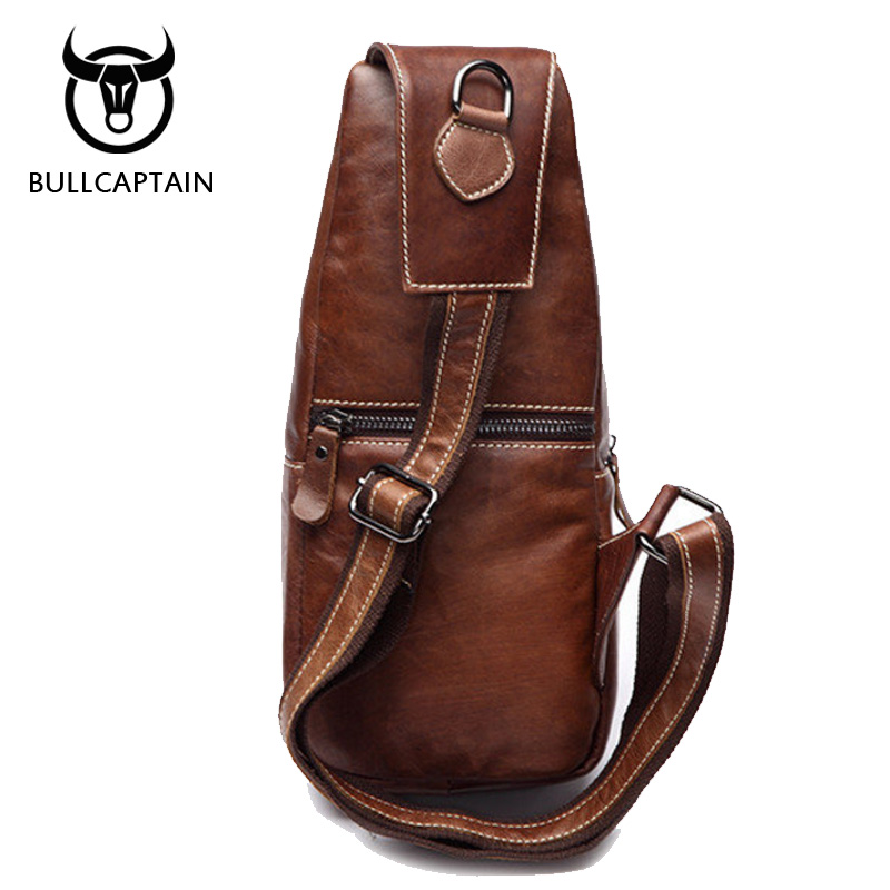 Bull Captain 2018 Fashion Genuine Leather Crossbody Bags Men Casual Messenger Bag Small Brand Designer Male Shoulder Bu01 In From Luggage