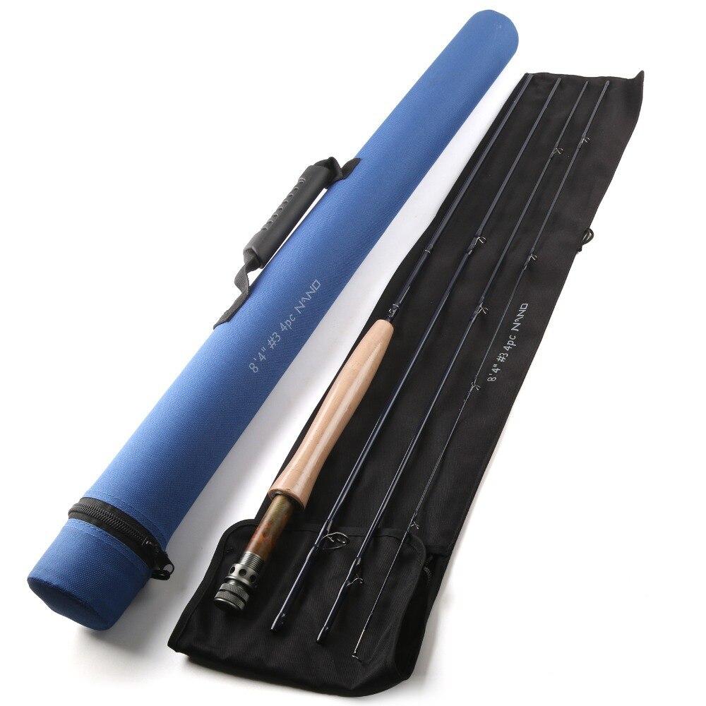 Maximumcatch Brand Nano Fly Fishing Rod 8.4FT 3WT 4PCS With Cordura Tube Nano Fly Rod