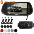 7 Inch TFT LCD 2 Video Input Car Rear View Camera Mirror Monitor 4 Parking Sensors with 7 IR Night Vision Rearview Camera