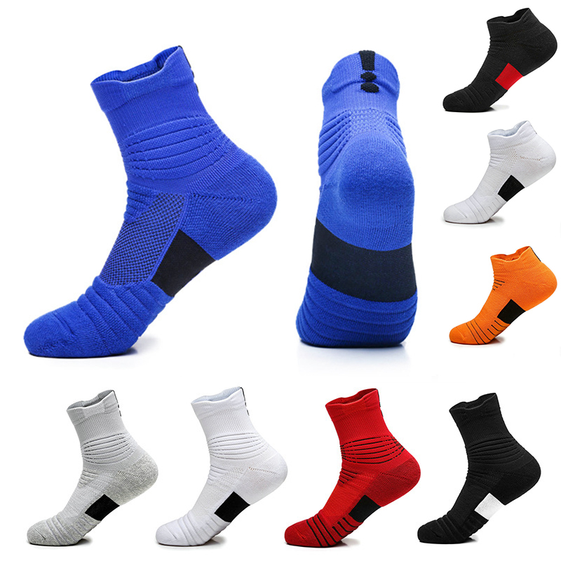 Men High Ankle Cotton Crew Socks Broken Iron Chain Casual Sport Stocking