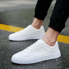 Hot Men Shoes Fashion Sneakers Men 2019 Spring Summer New Breathable Lace-up Low-cut Basic Casual White Men Shoes Luxury Brand цены онлайн