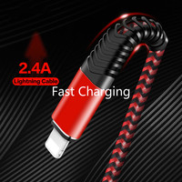 cell phone Type C usb cable for lightning cable Fast Charging Cable iPhone Charger Cord Usb Data Cable   Nylon Braided Cell-Phone Charger (3)