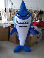 Shark Mascot Costume Cartoon Character Cosplay Theme Mascotte Carnival Costume Leafleteer Dress Funny Mascots Can Be Added Logo