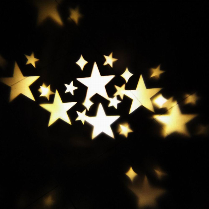 Rotation Night Light Warm Stars Projector Lamp Romantic Star Sky Fairy Spotlight for Indoor Outdoor House Garden Yard Decoration цена