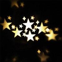 Rotation Night Light Warm Stars Projector Lamp Romantic Star Sky Fairy Spotlight for Indoor Outdoor House Garden Yard Decoration