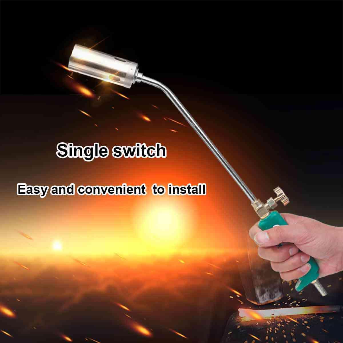 30 35 50 63 Mm Vòi Phun Công Tắc Đơn Propane Gas Butane Làm Nóng Đèn Pin Khí Hóa Lỏng Phun Dụng Cụ + 2 Mét ống Hàn Vật Dụng