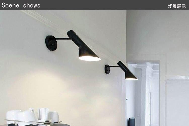 Plafoniere Da Parete A Led : Nordic loft americano arne jacobsen aj lampada da parete led camera