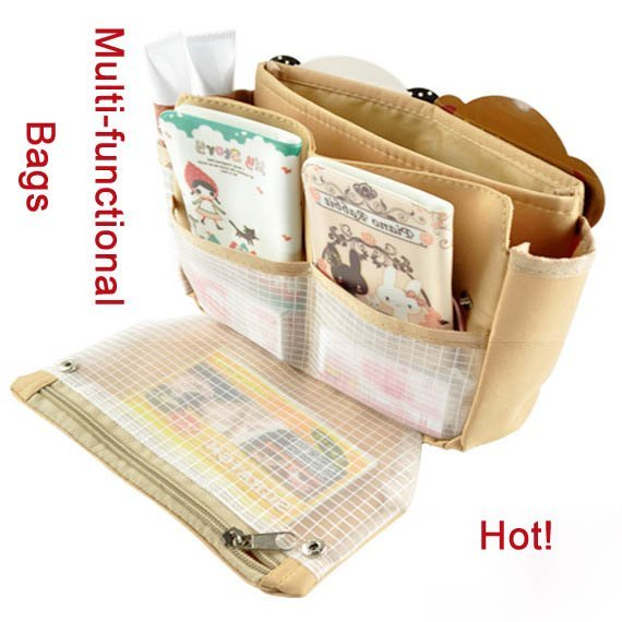 Makeup bag in bag storage package Hot Sale Cosmetic Pack packets package travel Case Free Shipping