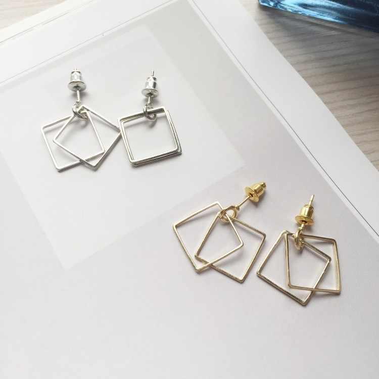 Mode boucle d'oreille bijoux rétro boucles d'oreilles minimaliste géométrique boucles d'oreilles en gros boîte à bijoux femmes cadeau Brincos