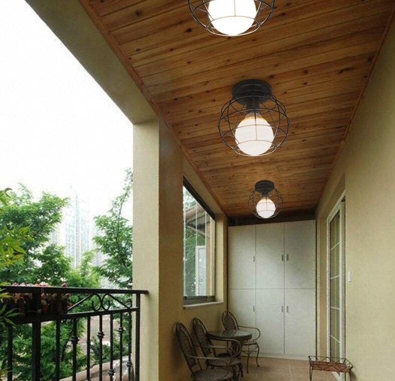 HTB16mrEKeSSBuNjy0Flq6zBpVXaL Vintage Ceiling Lamp For Living Room Bedroom Nordic Wrought Iron Retro Corridor Aisle For Living Room Bar Ceiling Light