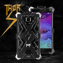 For A7 2016 Brand Thor Luxury Heavy Duty Armor Metal Aluminum Case Phone Back Cover For Samsung Galaxy NOTE 4 3 A9 A8 E7/J7-2015