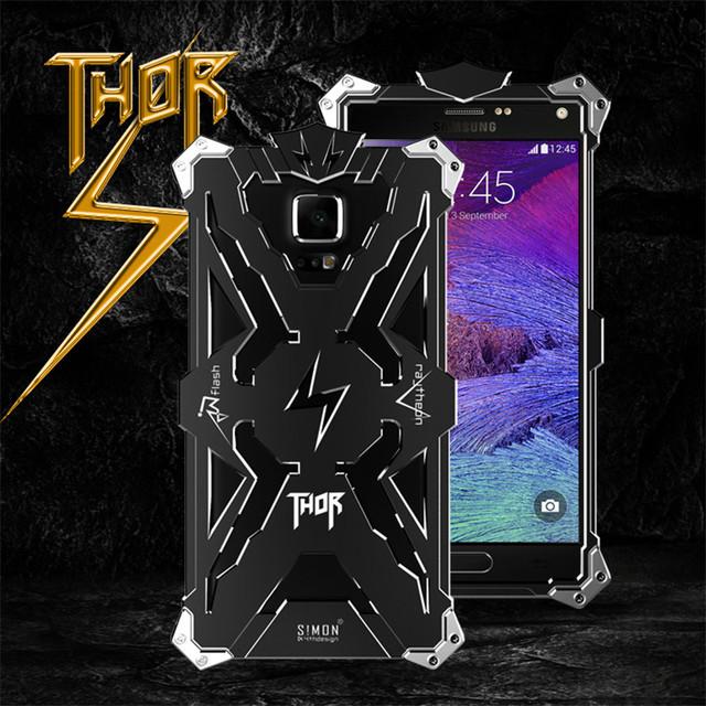 Para A7 2016 Marca Thor Heavy Duty Armadura Caso o Metal de Alumínio de Luxo tampa do telefone de volta para samsung galaxy note 4 3 a9 a8 e7/j7-2015