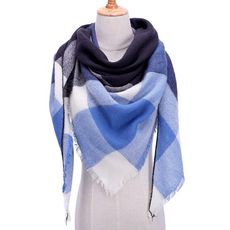 Бандана палантин платок на шею шарф зимний Дизайнер трикотажные весна-зима женщины шарф плед теплые кашемировые шарфы платки люксовый бренд шеи бандана пашмина леди обернуть - Цвет: b38