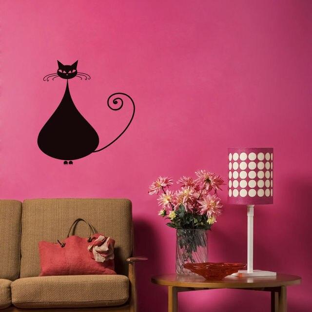 Chubby Siamese Cat Wall Sticker Creative Design Wall Decal Vinyl ...