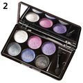New Arrival 6 Colors Diamond Bright Colorful Long Lasting Glitter Eye Shadow Palette Makeup
