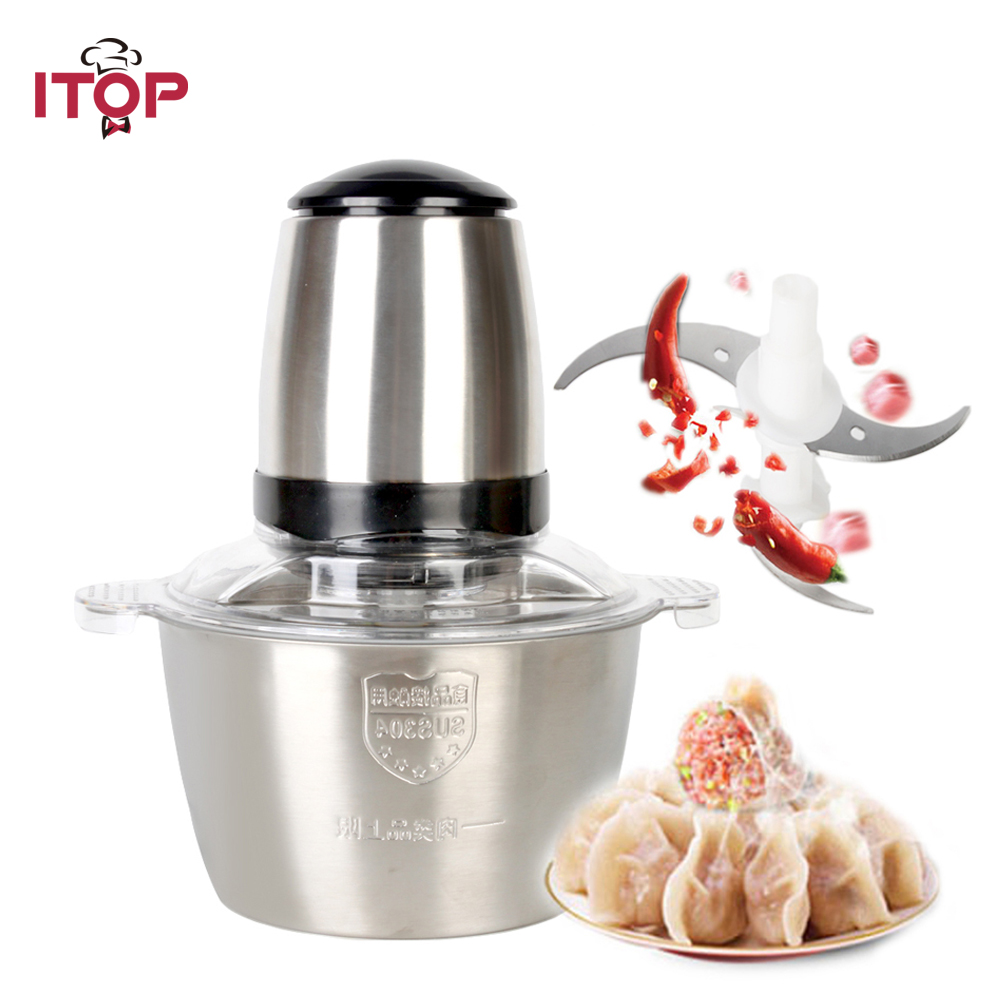 ITOP New Electric Stainless Steel Meat Grinder Meat Chopper Mincer Kitchen food chopper Cutter Sausage Home Appliances