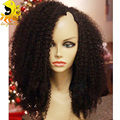 7A Cheap Kinky Curly U Part Wig Mongolian Curly U Part Wigs Virgin Hair Glueless Afro Kinky Curly Virgin Human Hair U Part Wig