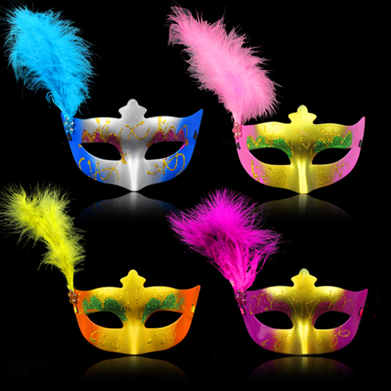 200pcs/lot Party <font><b>Mask</b></font> With <font><b>Gold</b></font> <font><b>Glitter</b></font> <font><b>And</b></font> <font><b>Feather</b></font> <font><b>Mask</b></font> Venetian Unisex Sparkle Masquerade Venetian <font><b>Mask</b></font> WA0745