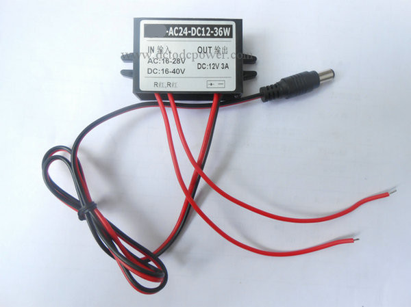 AC24V turn DC12V3A power converter s