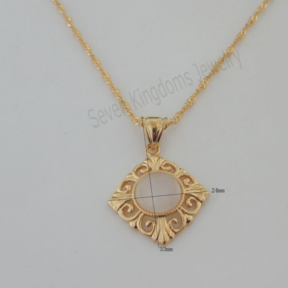 Min order 10 can mix design yellow gold overlay coated 18 min order 10 can mix design yellow gold overlay coated 18 necklace shinning white cat eye stone square shaped pendant in pendant necklaces from jewelry mozeypictures Images