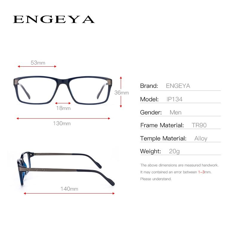 Image 3 - Men Glasses Clear Fashion Brand Designer Optical Eyeglasses Frame Transparent Glasses Men High Quality Prescription Eyewear #134-in Men's Eyewear Frames from Apparel Accessories