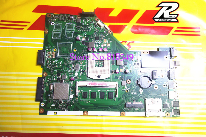 For Asus X55C X55VD Rev  2.2  / rev 2.1 system Motherboard with RAM on board  100% Tested OK free shipping  original notebook motherboard x54c k54c for asus rev 2 1 system pc mainboard with ram on board