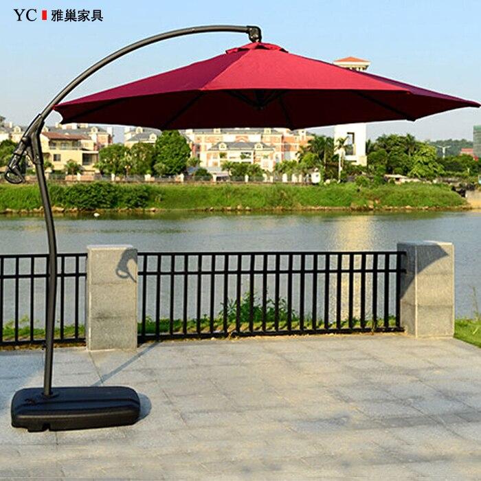 Uv Patio Umbrella: Hand Cranked Banana Umbrella Outdoor Patio Shade Garden