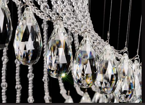 2019 LED k9 Crystal Chandelier Pendant Lighting Hanging Ceiling Lamps Fixtures with LED Source Clear K9 Crystal Free shipping in Ceiling Lights from Lights Lighting