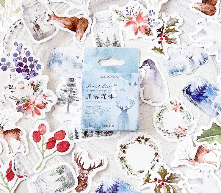 Misty Forest Diy Decorative Sticker(1pack=46pieces)