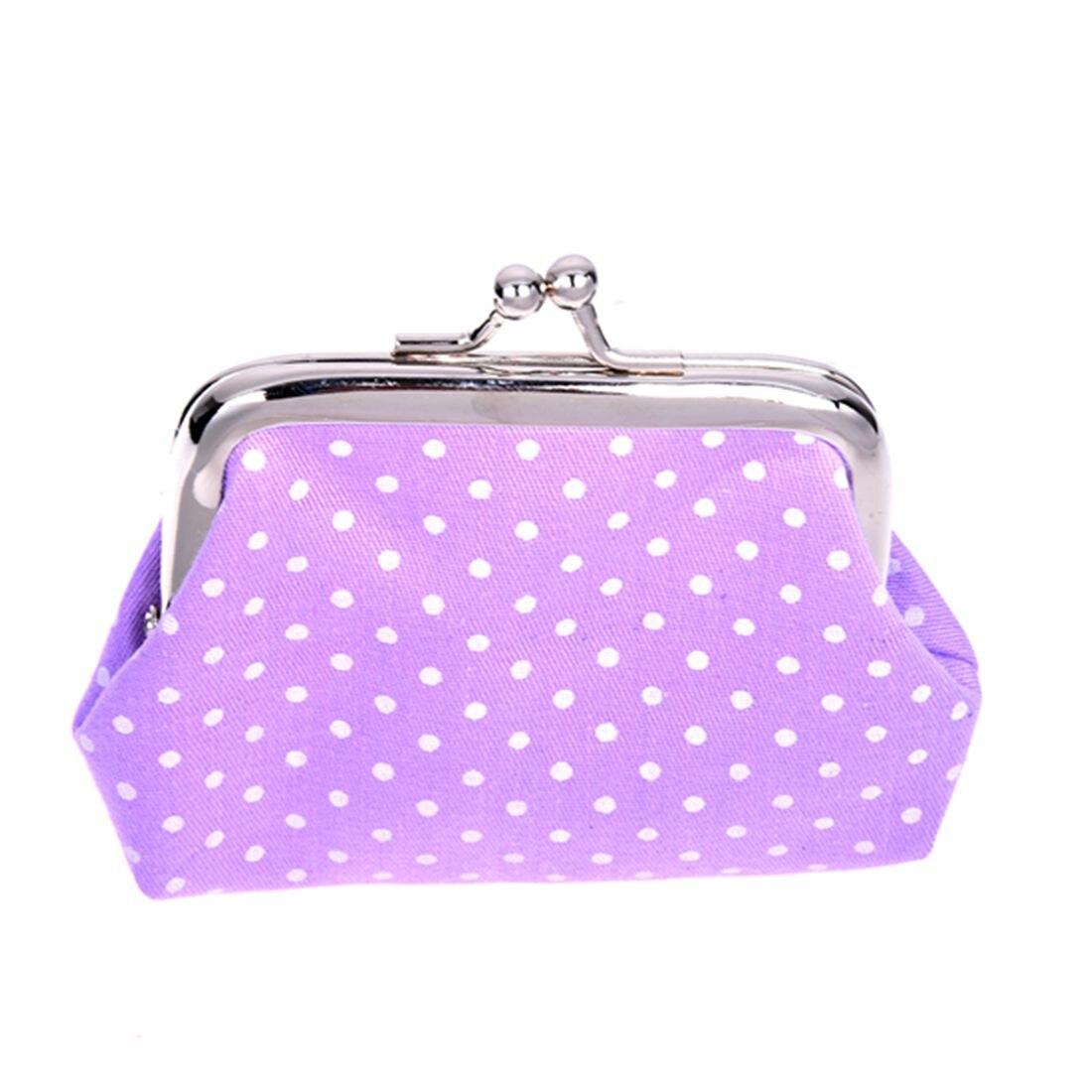 Popular Cute girls Wallet Clutch Change Purse key/coins bag Mini Handbag Pouch purple