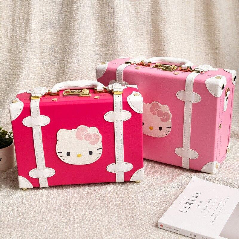 14 tums bärbar rosa kosmetisk malas duffelväska Hello Kitty - Väskor för bagage och resor - Foto 1