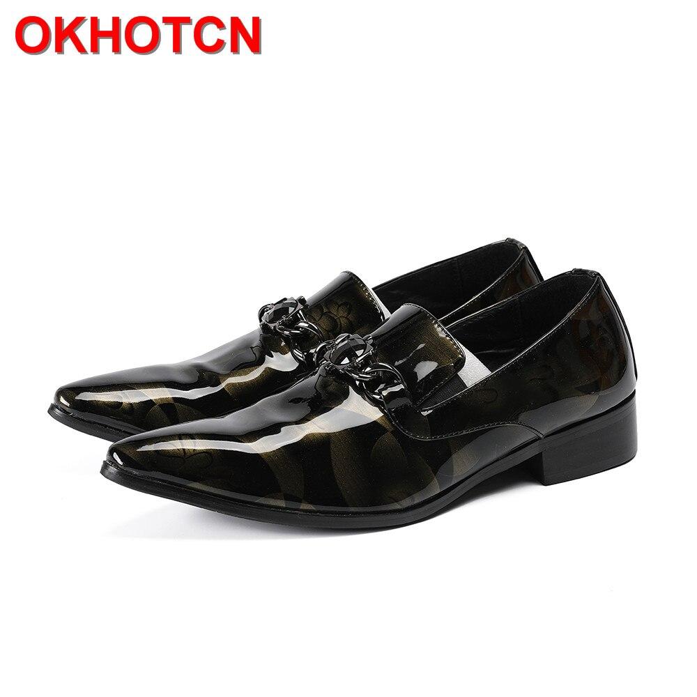 Yngqyrwo Con Negro Vestir Charol Aros Formales Metal Hombre Cuero De Negros  Para Zapatos Italianos q7qBrOp 19e84fce0912